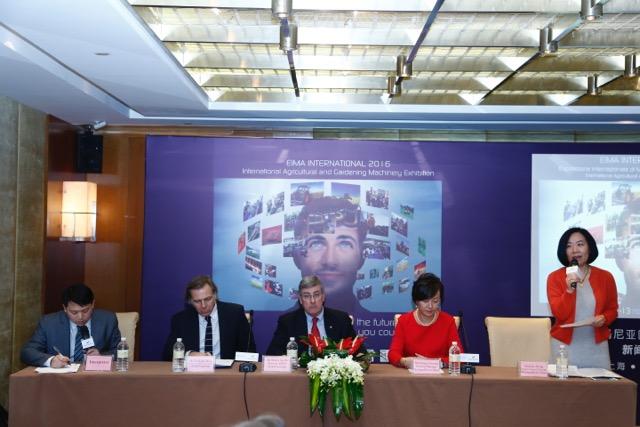 Conferenza stampa Eima International Shanghai 21 gennaio 2016
